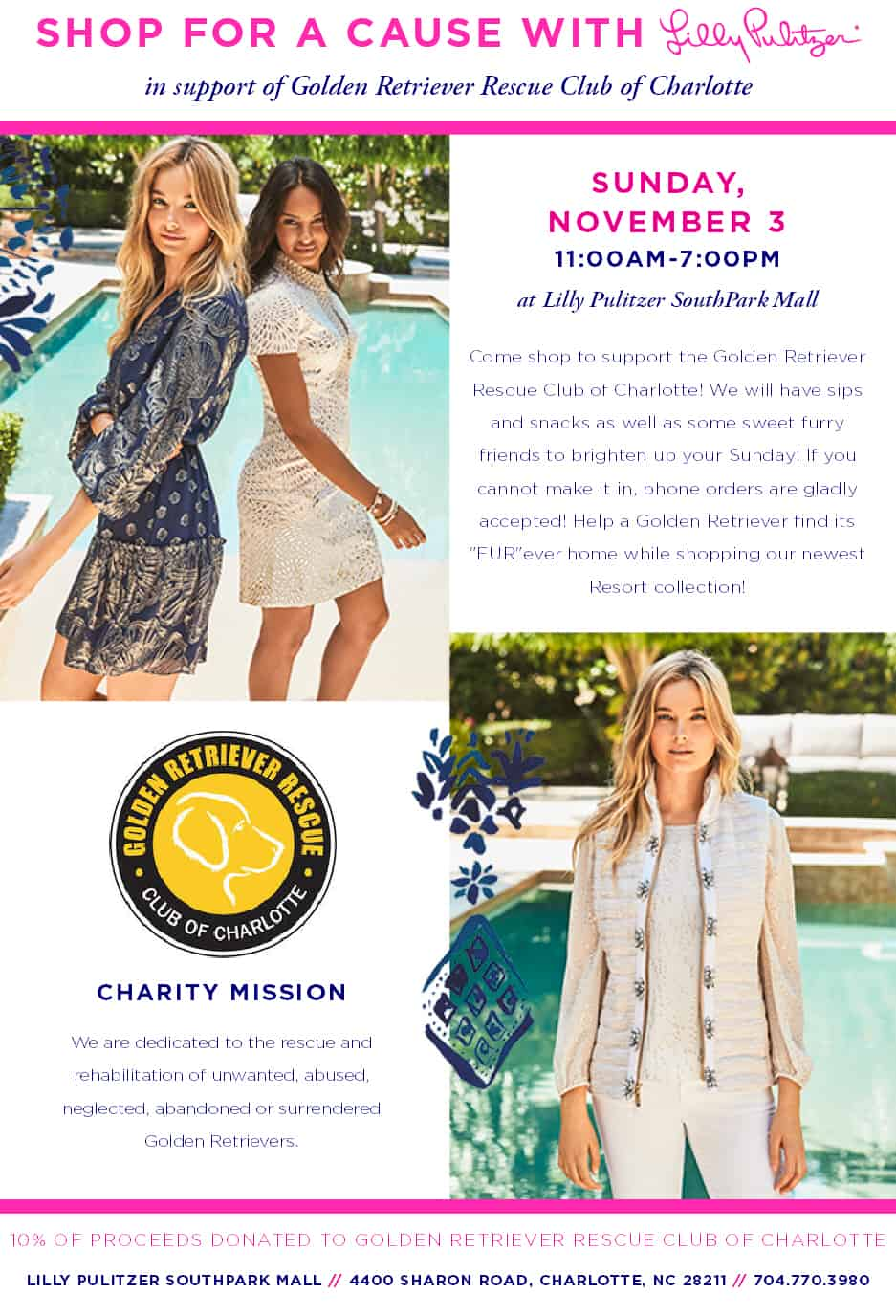 Lilly Pulitzer Shop & Save Event