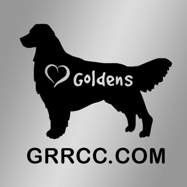 I heart Golden Retrievers window decal