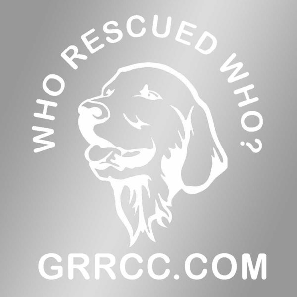 Who Rescued Who window decal