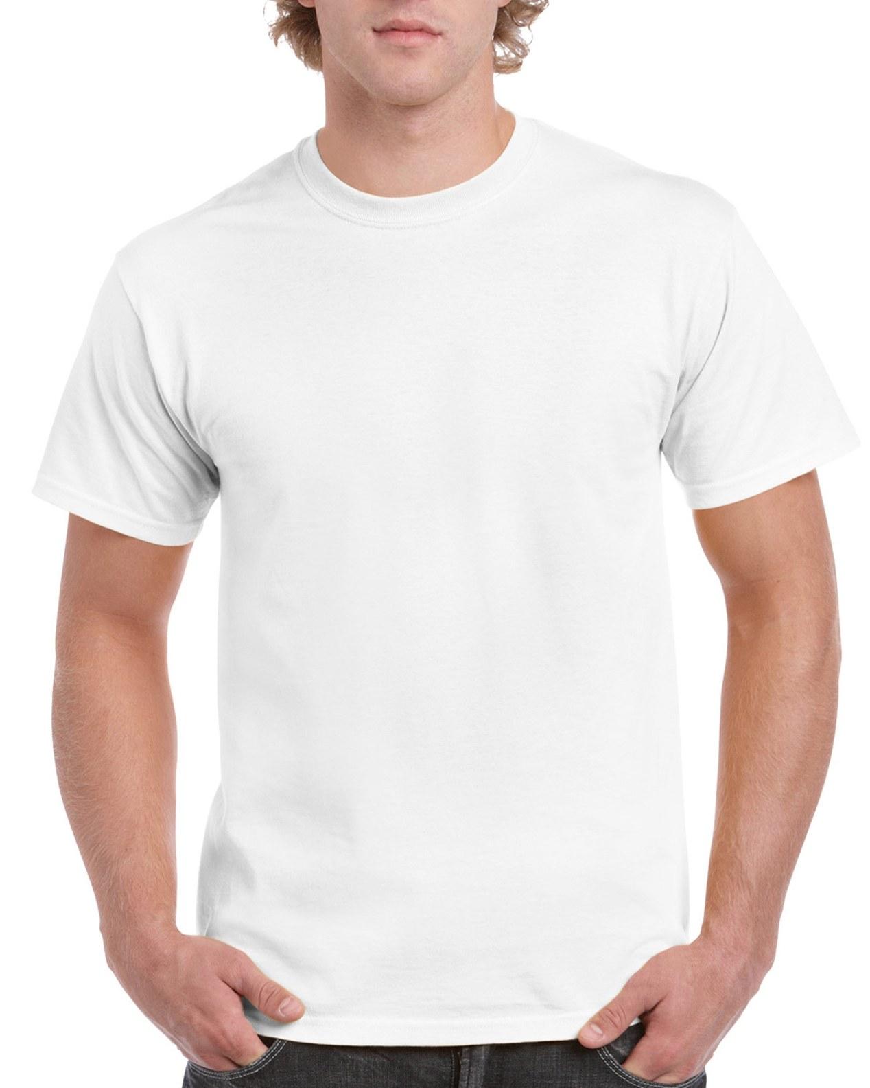 Gildan Ultra Cotton Tee White Front